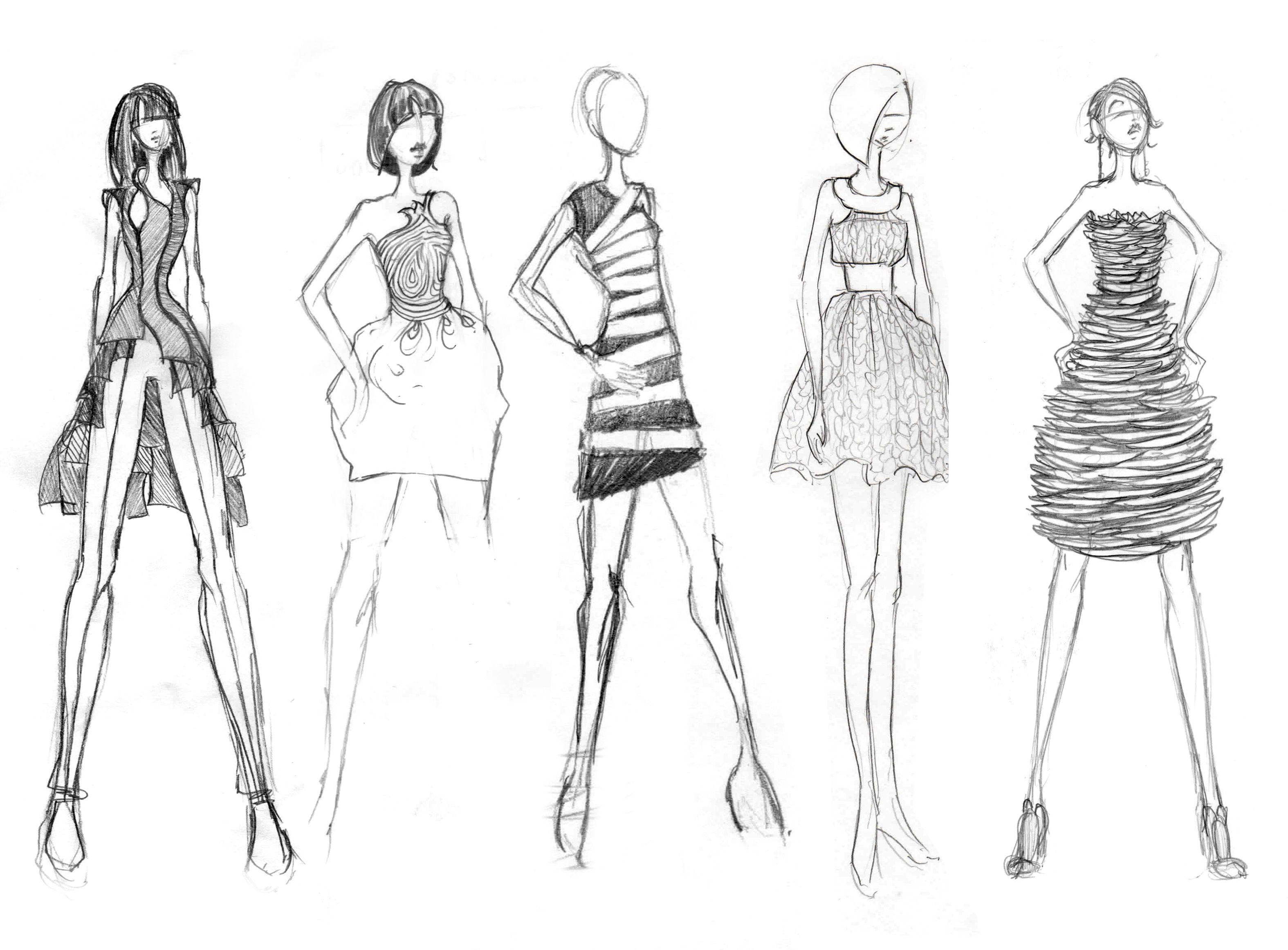 Line Composition In Fashion Designing : Steps to create your own fashion line