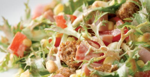 smoky-ham-and-corn-salad